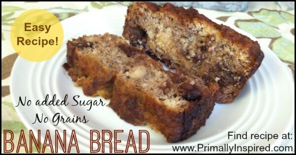 Paleo Banana Bread - No Grains, No Added Sugar!