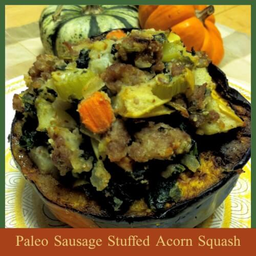 Paleo Sausage Stuffed Acorn Squash