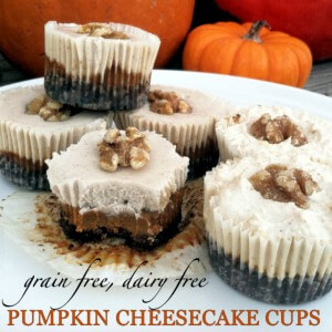 Grain Free, Dairy Free Pumpkin Cheesecake Cups