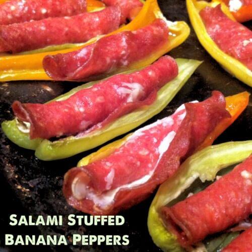 Salami Stuffed Banana Peppers