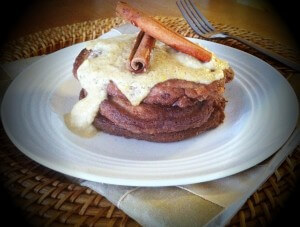 No Grains Vanilla Chai Pancakes with Vanilla Maple Cream