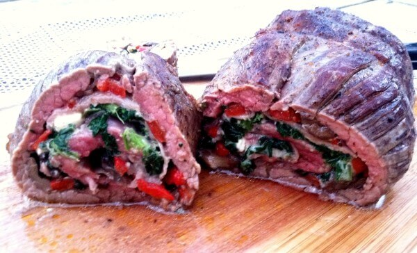 flank steak gorgonzola stuffed flank spinach and gorgonzola stuffed ...