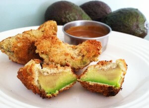 Fried Avocado with a Tangy Honey Mustard Dipping Sauce