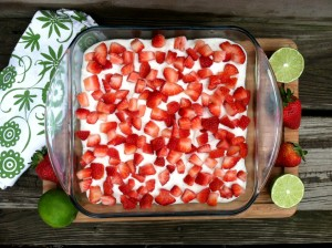 Strawberry Lime Cake (Grain, Dairy, Nut, Refined Sugar Free)