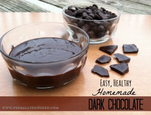 Easy, Healthy, Homemade Dark Chocolate