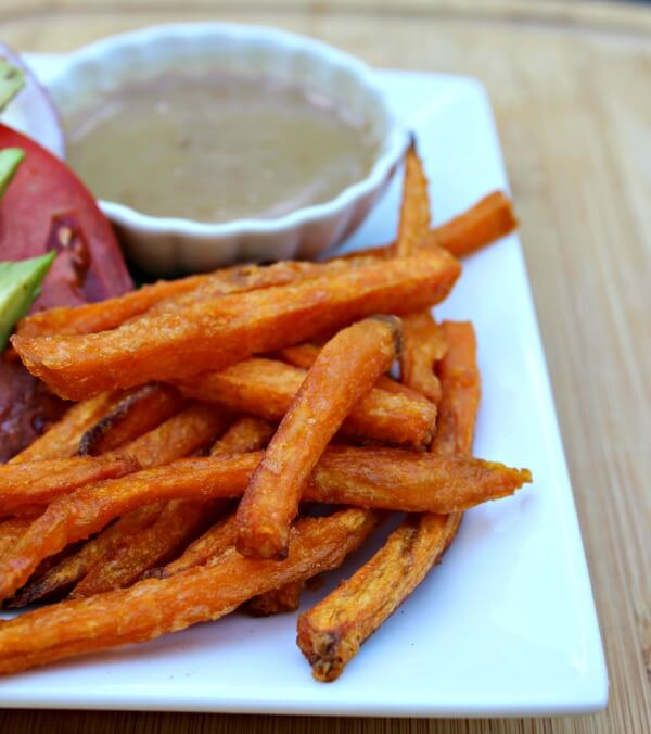 My sweet potato fries (that I always keep in my freezer) recipe is coming soon!