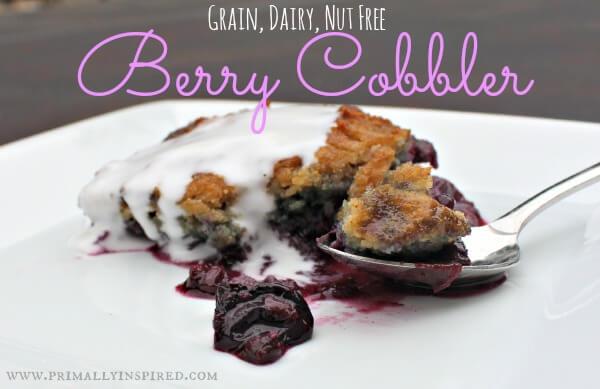 Grain Free Berry Cobbler