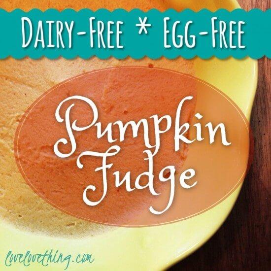 Pumpkin Fudge (Paleo) Dairy Free