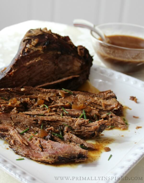 Crockpot Balsamic Roast Beef - Primally Inspired