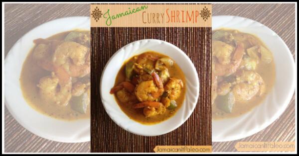 Jamaican Curry Shrimp - www.PrimallyInspired.com