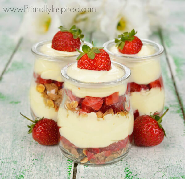 Paleo Lemon Pudding Parfait from Primally Inspired