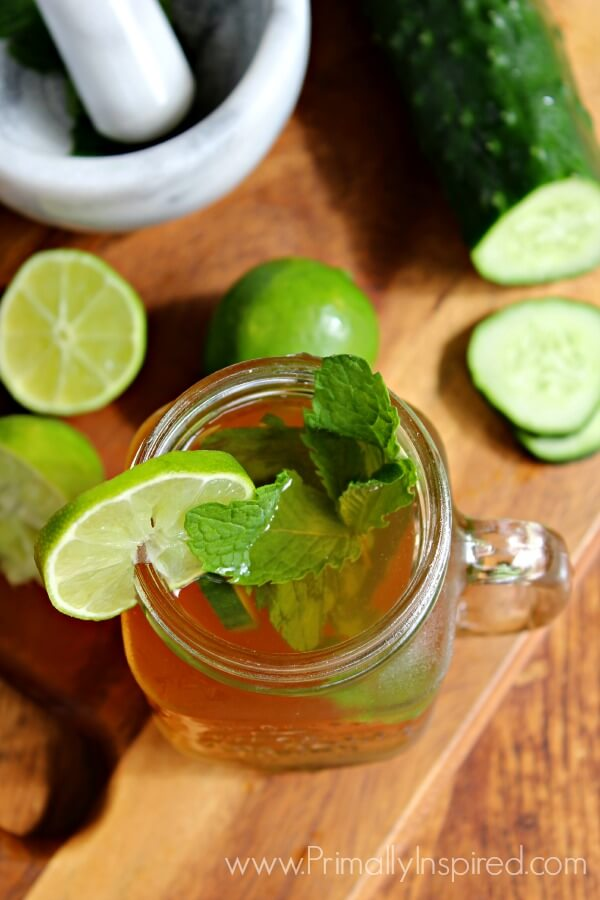 Iced Green Tea Mojito by Primally Inspired - helps digestion and liver ...