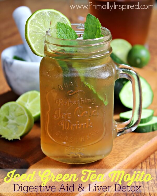 Iced Green Tea Mojito from Primally Inspired - A Digestive Aid and ...