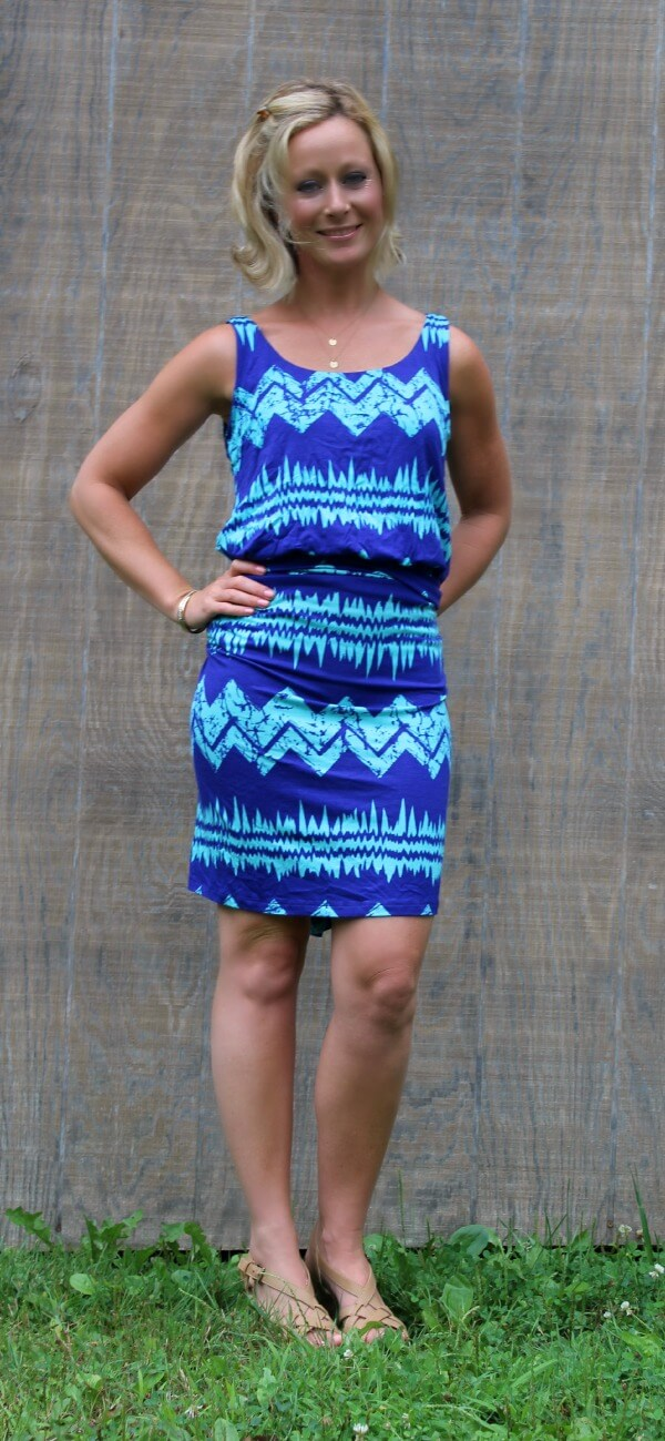 August Stitch Fix Review from Primally Inspired - Livie Abstract Chevron Maxi Dress