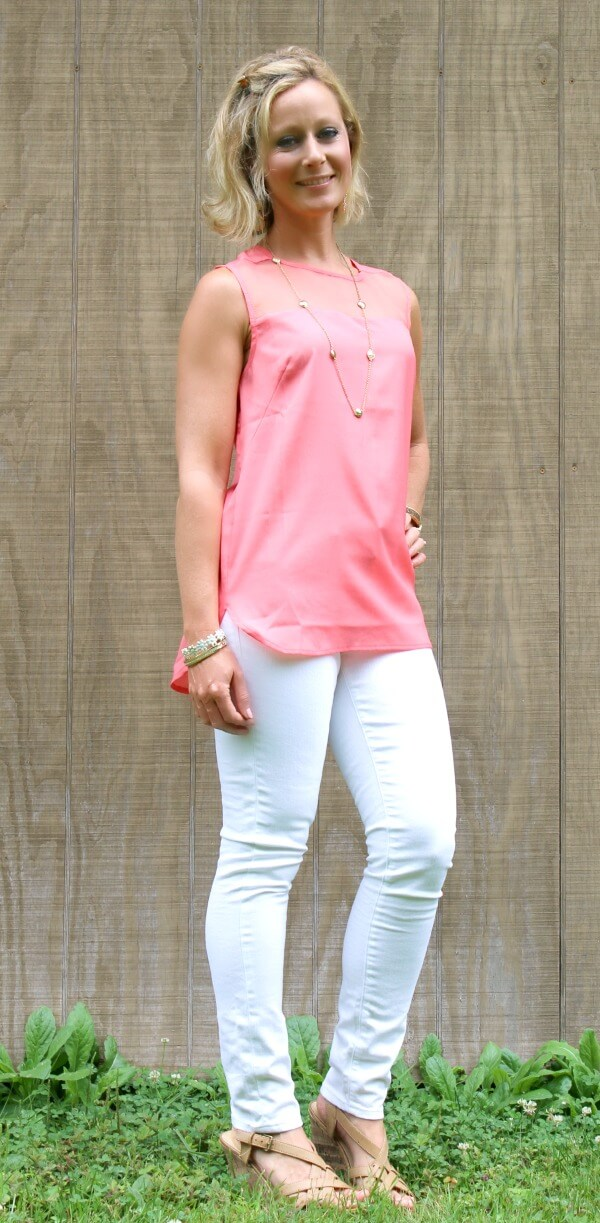 August Stitch Fix Review from Primally Inspired   Mavi Aiden White Skinny Jeans