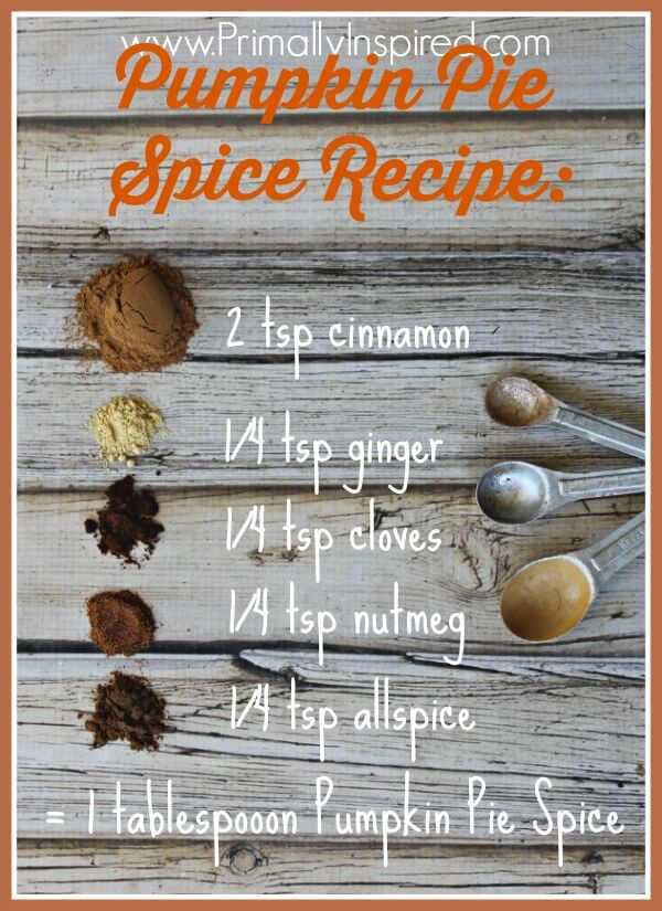 Homemade Pumpkin Pie Spice Recipe from Primally Inspired