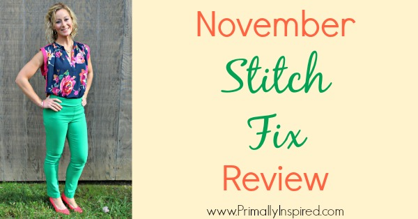 November Stitch Fix Review by Kelly from Primally Inspired