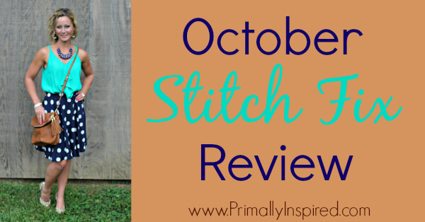October Stitch Fix Review from Kelly at Primally Inspired #stitchfix