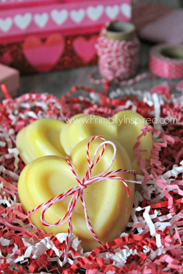 Homemade Lotion Bars that smell like White Chocolate! Easy 3 Ingredient Recipe using coconut oil! | Primally Inspired