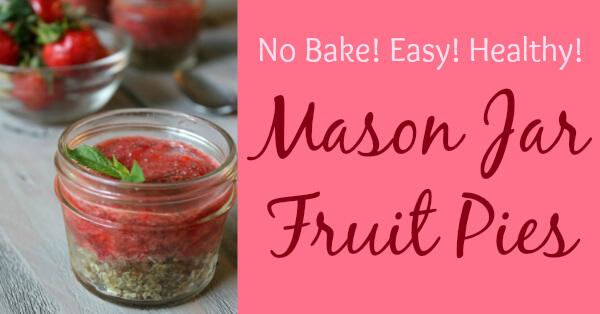 Mason Jar Fruit Pies - Easy, No Bake Recipe (Paleo, Vegan, Gluten Free, No Refined Sugar) Primally Inspired