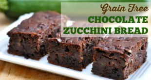 Paleo Chocolate Zucchini Bread - Made in the Blender! Grain free, no refined sugar, coconut flour