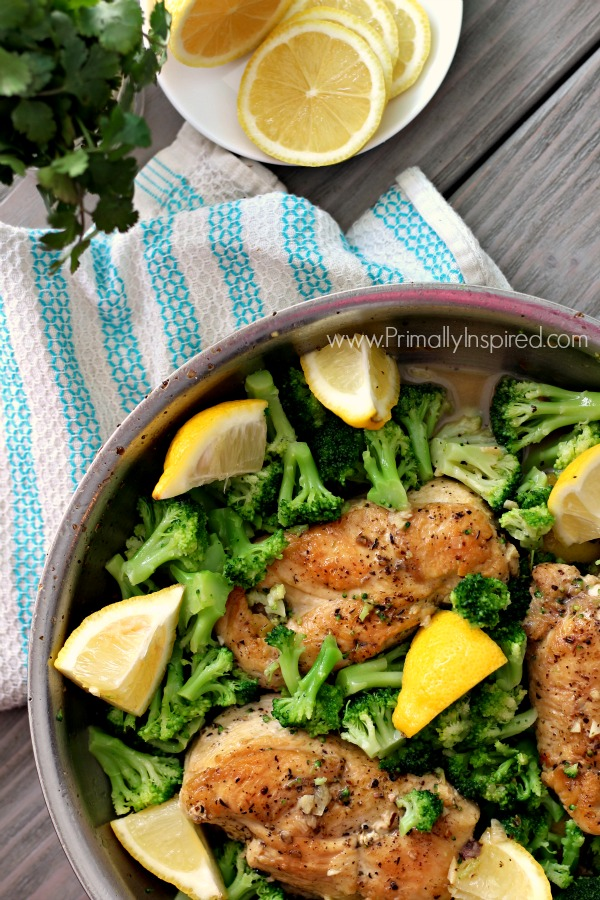 Lemon Chicken Skillet - One pan meal! Paleo, Gluten Free