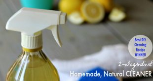 The Best Homemade Natural Cleaner Recipe - Works on everything! Floors, Kitchen, Bathroom, Windows, Mold, Mildew, etc.