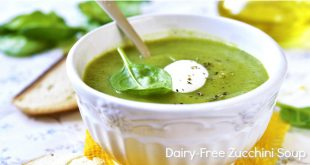 Dairy Free Zucchini Soup (Paleo, Whole30) - so creamy you won't believe it doesn't have dairy! Vegan option, too!