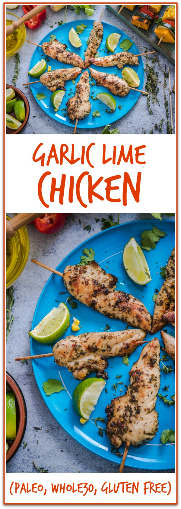 This garlic lime chicken recipe is SO good!!! A family favorite. I make it once a week! (Paleo, Whole30, Gluten Free) Also a really good freezer meal!