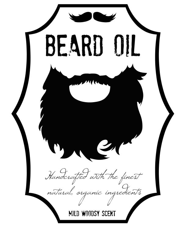 Beard Oil Printable Labels