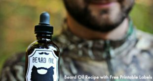This DIY beard oil recipe has the best smelling manly essential oil blend!
