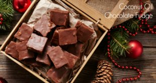 Healthy Coconut Oil Chocolate Fudge Recipe - just 5 ingredients and 5 minutes to make!