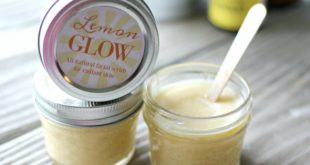 DIY Lemon Face Scrub with free printable labels. This recipe gives you the smoothest, glowing skin!