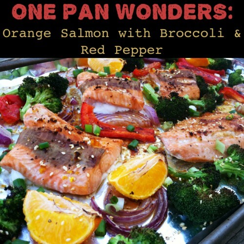 One Pan Wonders: Orange Salmon with Broccoli and Red Pepper