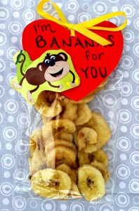 Banana Chips and a Healthy, Kid Approved Valentine's Day Snack and Craft