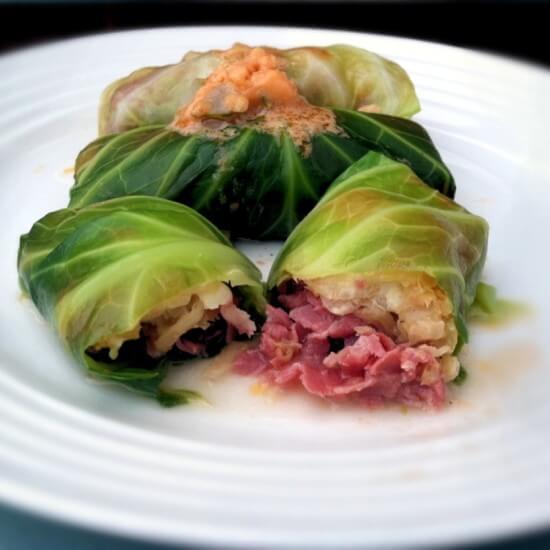 Cabbage Rolls - Reuben Style