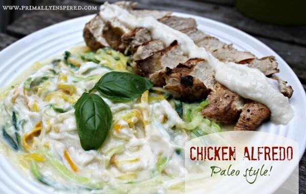 Chicken Alfredo - Paleo style!