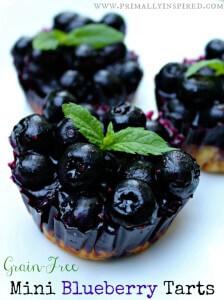 Mini Blueberry Tarts (Grain Free)