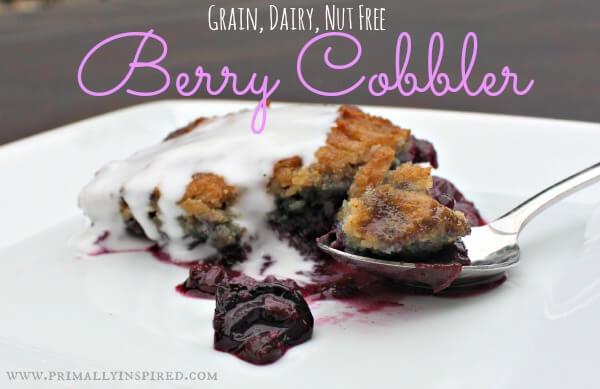Grain Free Berry Cobbler