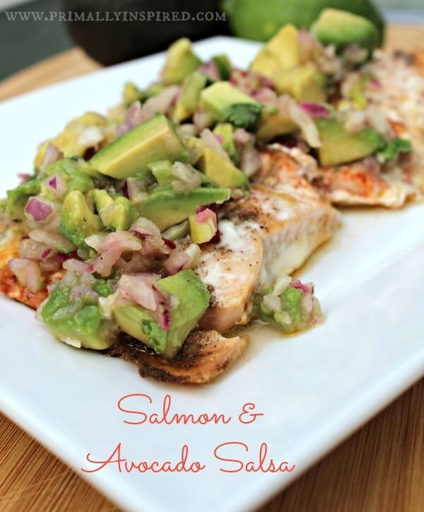 salmon with avocado salsa