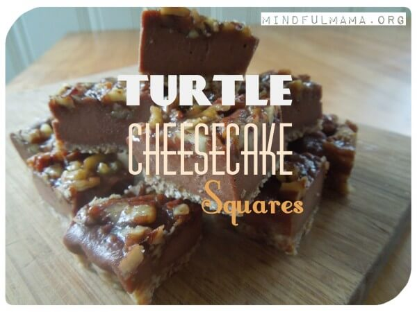 Turtle Cheesecake Squares (Grain and Dairy Free)