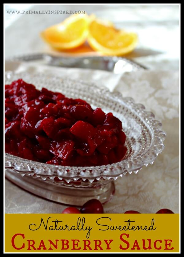 naturally sweetened cranberry sauce