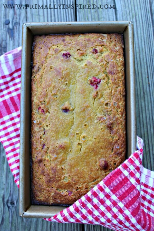 Orange Cranberry Loaf  PrimallyInspired.com