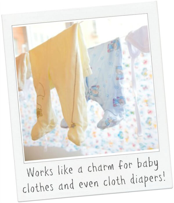 Branch Basics works great on baby clothes and even cloth diapers!