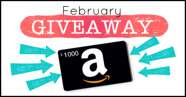 February giveaway Amazon Gift Card | PrimallyInspired.com