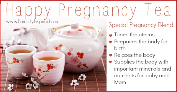 Happy Pregnancy Tea Recipe| PrimallyInspired.com