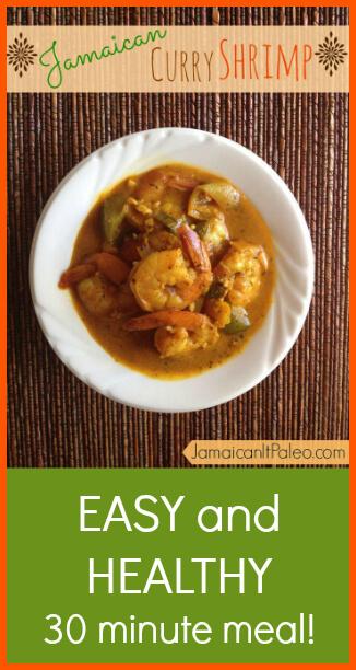 Jamaican Curry Shrimp www.PrimallyInspired.com