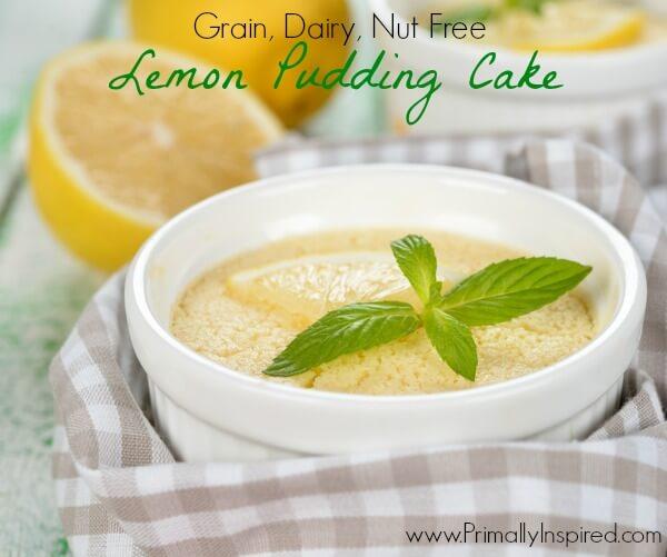 Lemon Pudding Cake - Primally Inspired