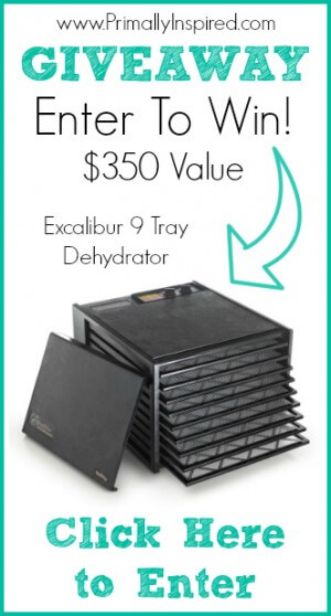 March Giveaway Excalibur Dehydrator from Primally Inspired