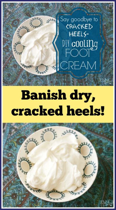 Cooling Foot Cream Recipe from Jenni Raincloud - www.PrimallyInspired.com